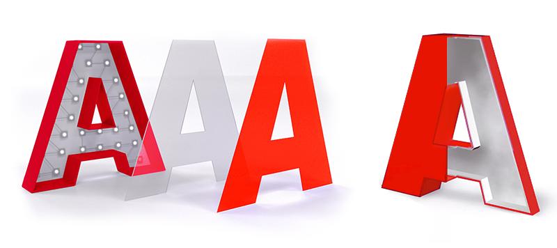 Производство букв для наружной рекламы