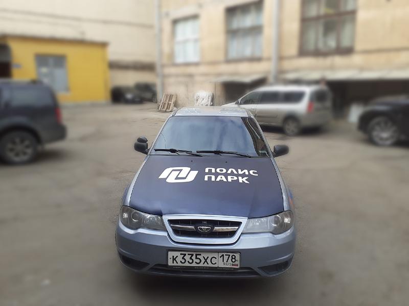 Оклейка на авто номер телефона и сайт в СПБ