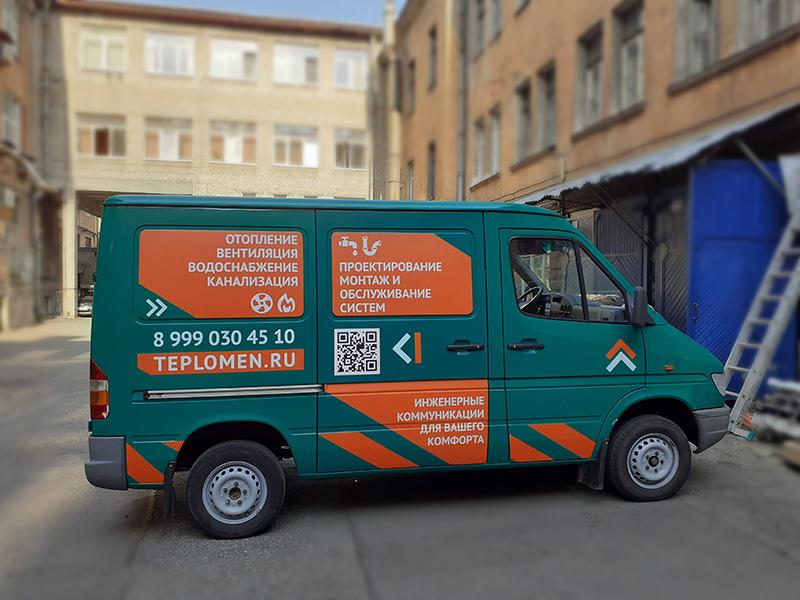 Оклейка зеленой пленкой фургон в Санкт-Петербурге (СПБ)