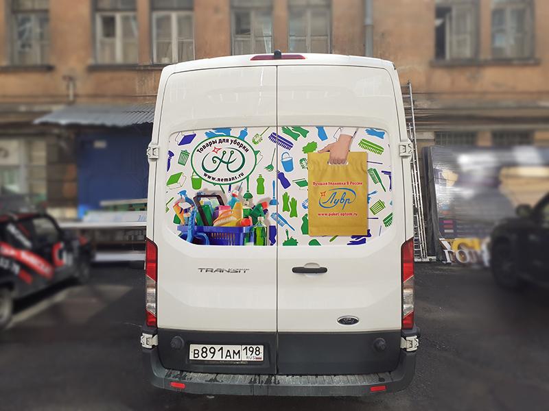 Брендирование пленкой микроавтобус Санкт-Петербург