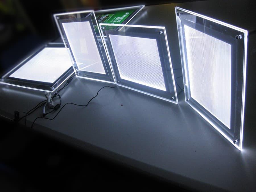 Изготовление тонких световых панелей кристалайт